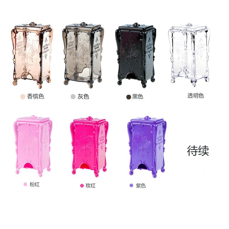 黑C 安娜蘇 奢華風格魔法薔薇蝴蝶卸妝棉立體蝴蝶帶蓋收納盒底部抽取卸妝棉盒 化妝棉盒飾品盒
