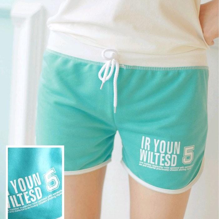 有 !!~7MPS ~糖果色女生 短褲沙灘褲熱褲海灘褲 小短褲跑步健身休閒短褲室內褲