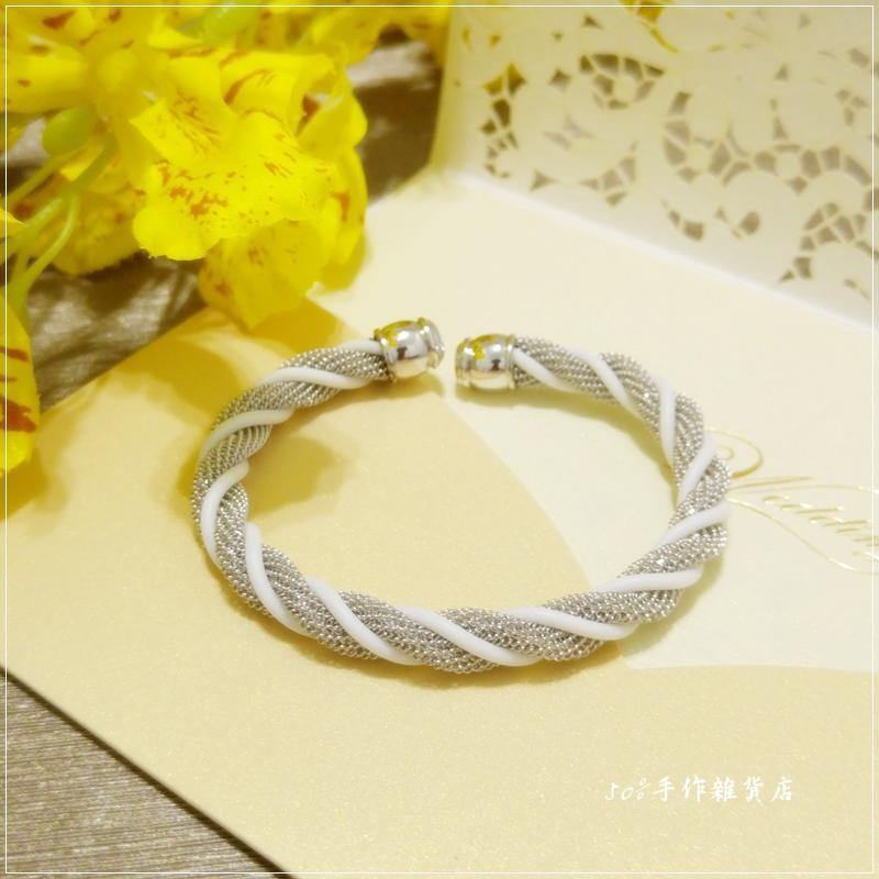 FZ 正韓 工業風厚實金屬網麻花手環