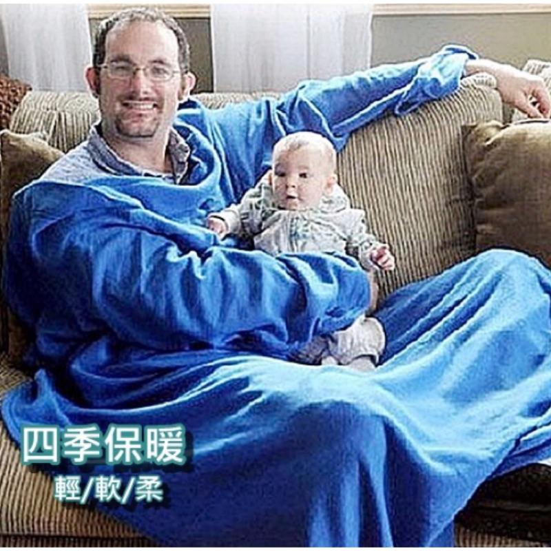 四季保暖毯880AAA 夏日冷氣毯袖毯電視毯多用毯懶人毯空調毯保暖一標一入紅藍