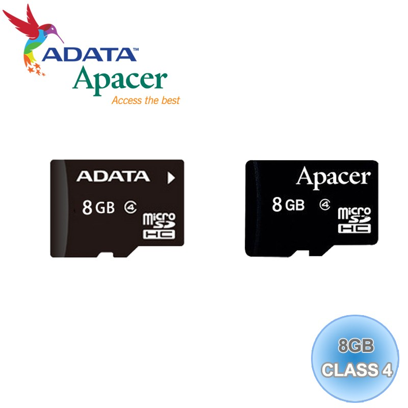 ADATA 威剛Apacer Micro SD T Flash 8G TF 8GB Cla