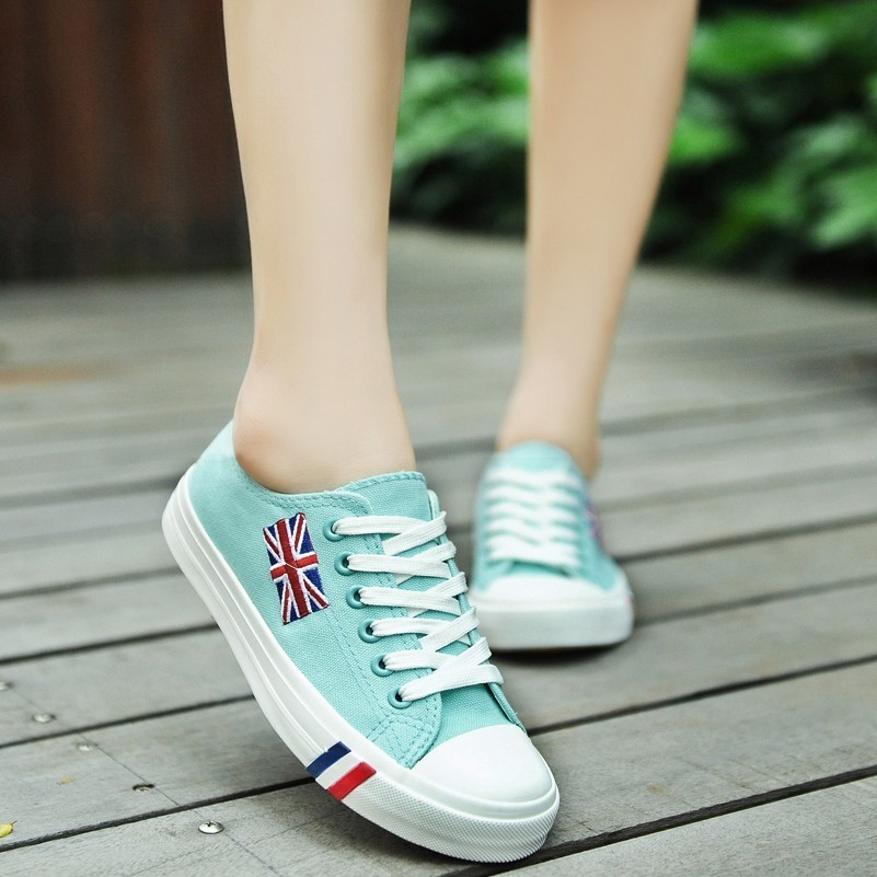 飛揚 潮品街 透氣帆布鞋女夏 潮女鞋學生鞋平底板鞋 鞋鞋子單鞋