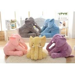 姵蒂屋大象抱枕公仔毛絨玩具嬰兒安撫玩具嬰兒枕頭靠枕生日 安撫大象