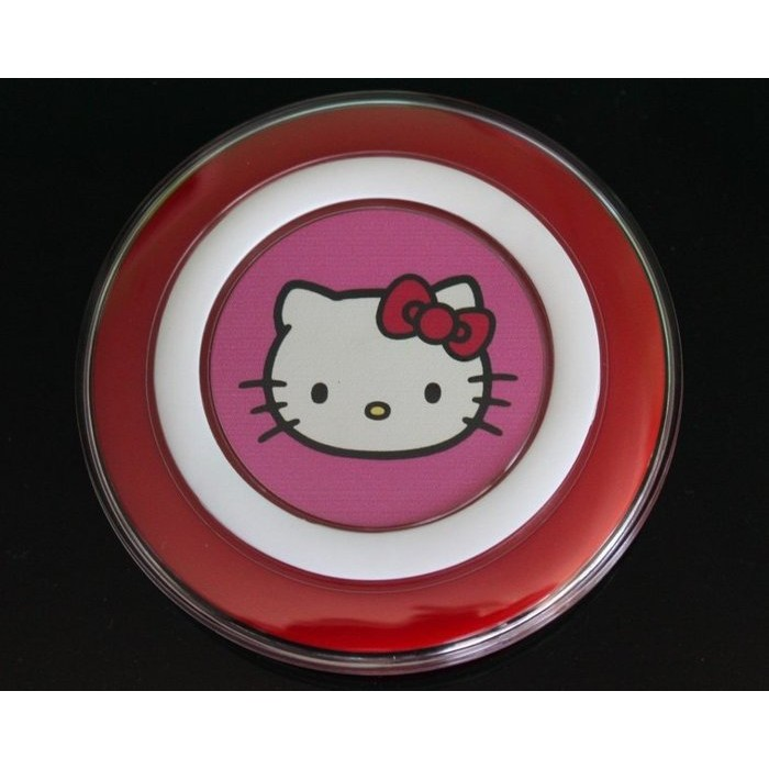 ~ 1 個月~~史上最可愛Qi 充電板~Hello Kitty 手機無線充電板QI 相容快