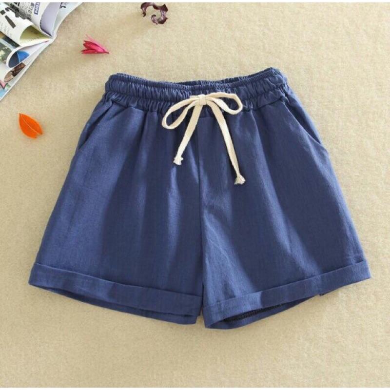 棉麻超透氣涼爽顯瘦寬鬆短褲