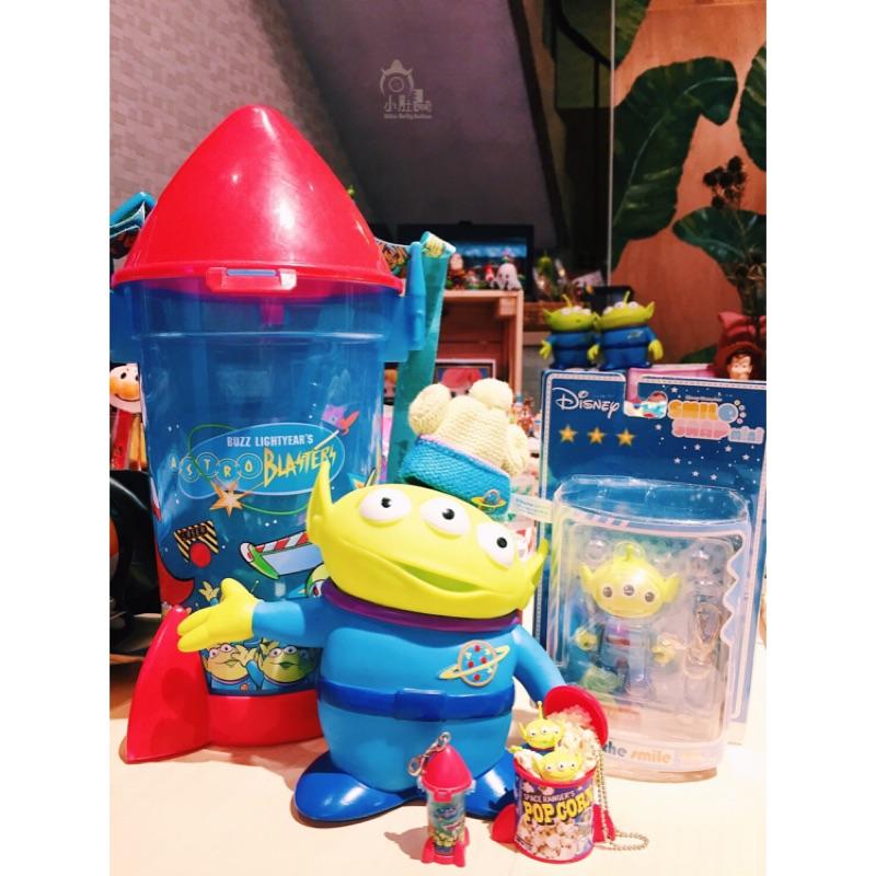 迪士尼玩具總動員絕版三眼怪火箭爆米花桶smile snap mini sega 公仔吊卡食