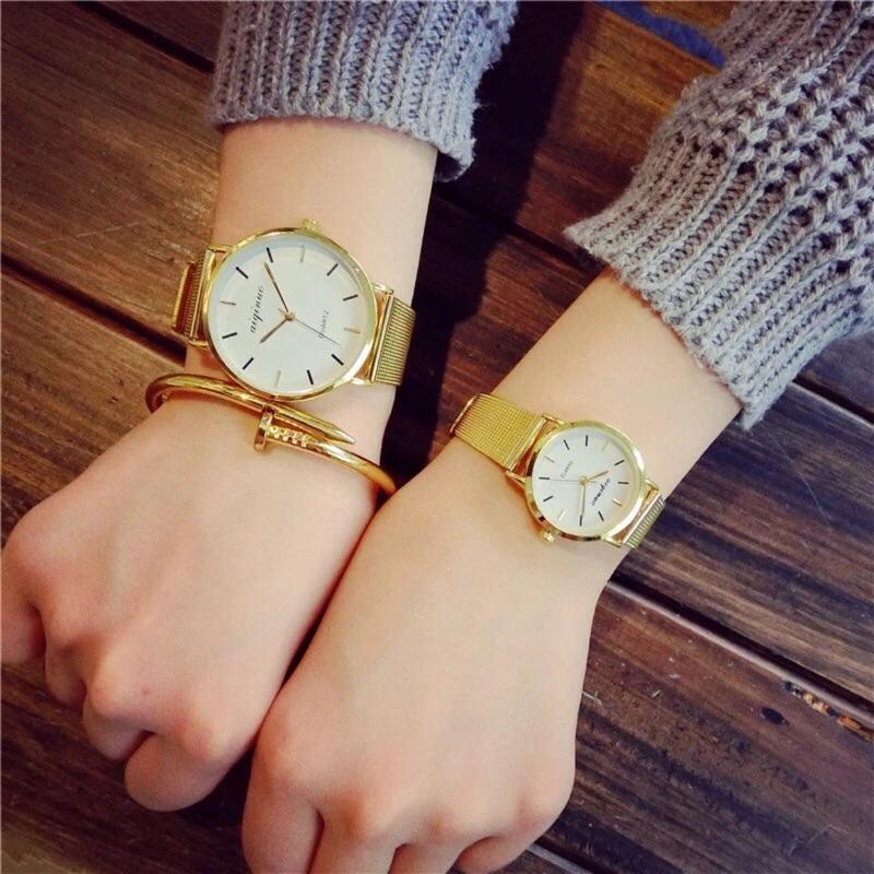 韓國簡約金屬 錶ulzzang 原宿風手錶小金錶大錶金錶韓國錶 錶藍光錶手錶學生錶仕女錶