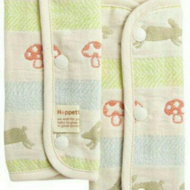 ~Hoppetta ~六層紗 鈕扣款童趣森林小兔蘑菇背巾口水巾