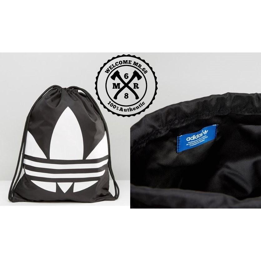 ~MR 68  ~Adidas Drawstring Backpack 黑色白色大Logo