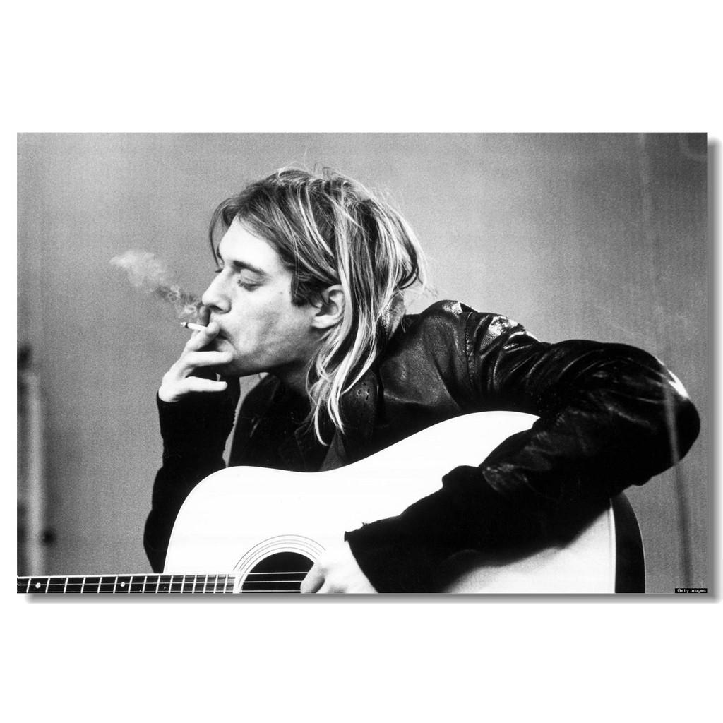 涅槃樂隊(Kurt Cobain Nirvana )周邊列印絲質布料海報防皺205