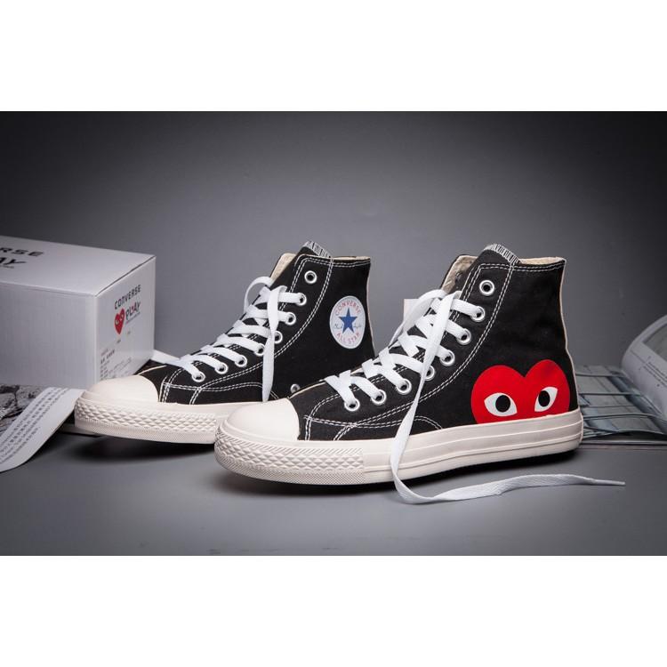 CDG Play x Converse 1970s 高筒川久保玲 帆布鞋休閒鞋男女鞋黑白