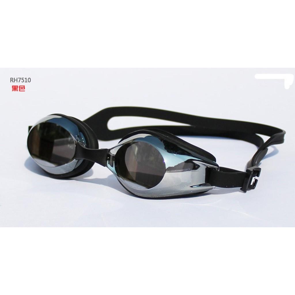 水之舞RH7510 防水防霧防紫外線電鍍泳鏡電鍍蛙鏡耐磨防輻射電鍍層平光