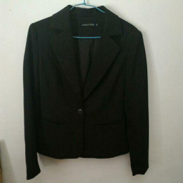 黑色西裝外套office star 購入