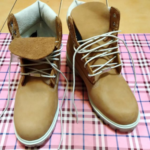 【Timberland】男款小麥黃厚領綁帶6吋靴