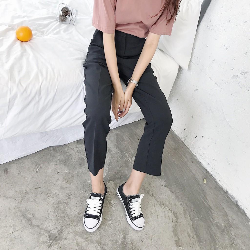 復古純色顯瘦直筒筆挺好版型西裝褲休閒褲子