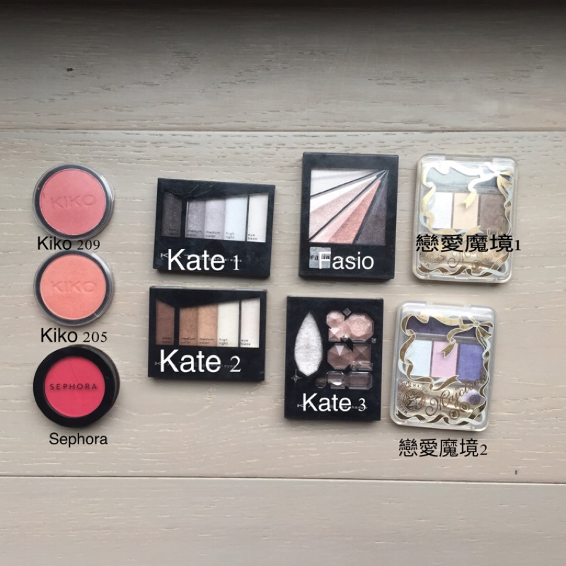 KATE 戀愛魔境Sephora Kiko fasio motives 眼影眼影盤(不換物