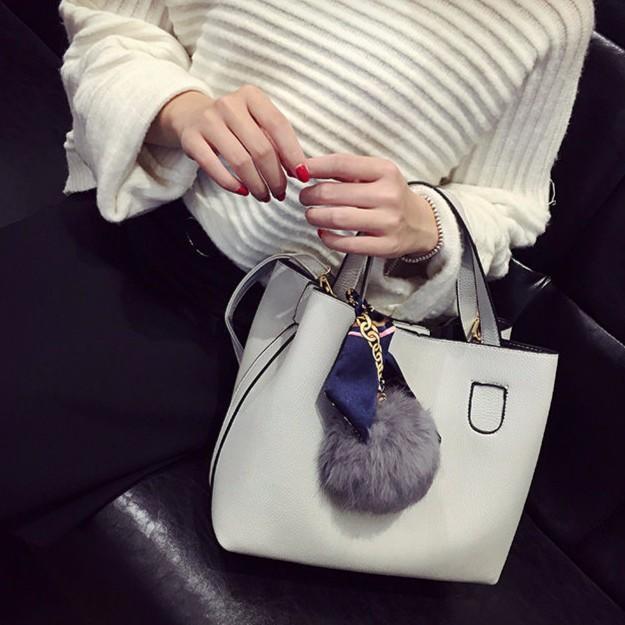✨絲巾包毛球包子母包毛毛包荔枝包單肩包斜背包手提包斜挎包 包