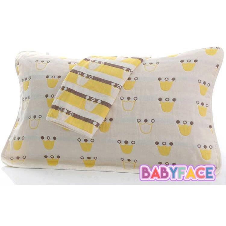 ~五層紗~NEW 皇冠枕巾枕頭巾餵奶巾柔軟透氣不悶熱圖案可愛純綿枕巾50 75CM