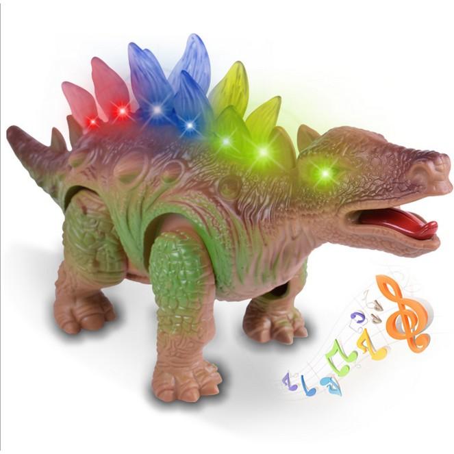 兒童塑膠模型玩具 燈光發聲仿真電動恐龍模型玩具