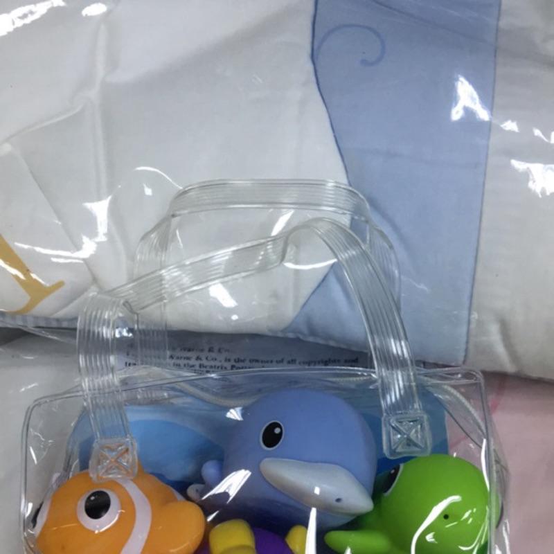 酷咕鴨水中玩具6 入,海洋動物組6 入(中間酷咕鴨是藍色)
