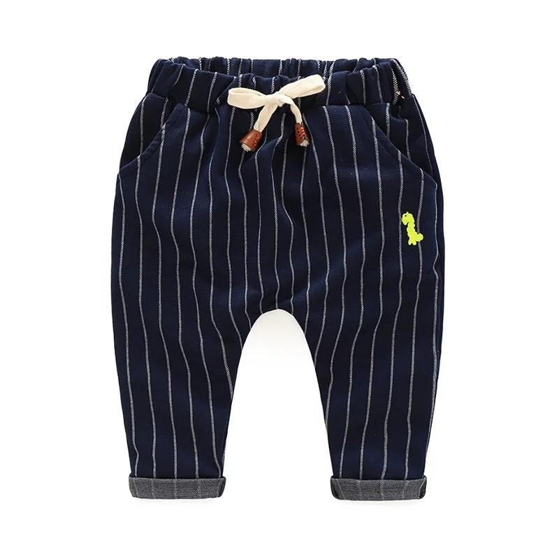2016 秋裝條紋哈倫長褲