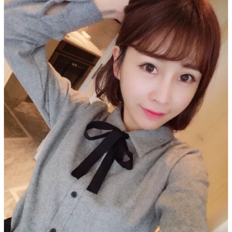 韓蝴蝶結襯衫BG 3112