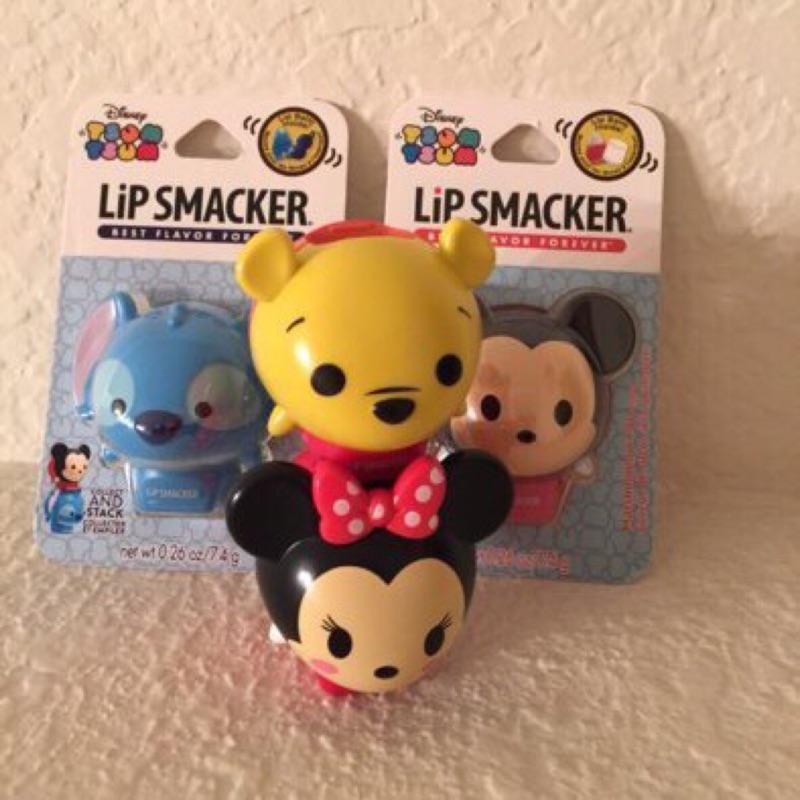 美國迪士尼Tsum Tsum Lip Smacker 護唇膏米奇棉花糖口味