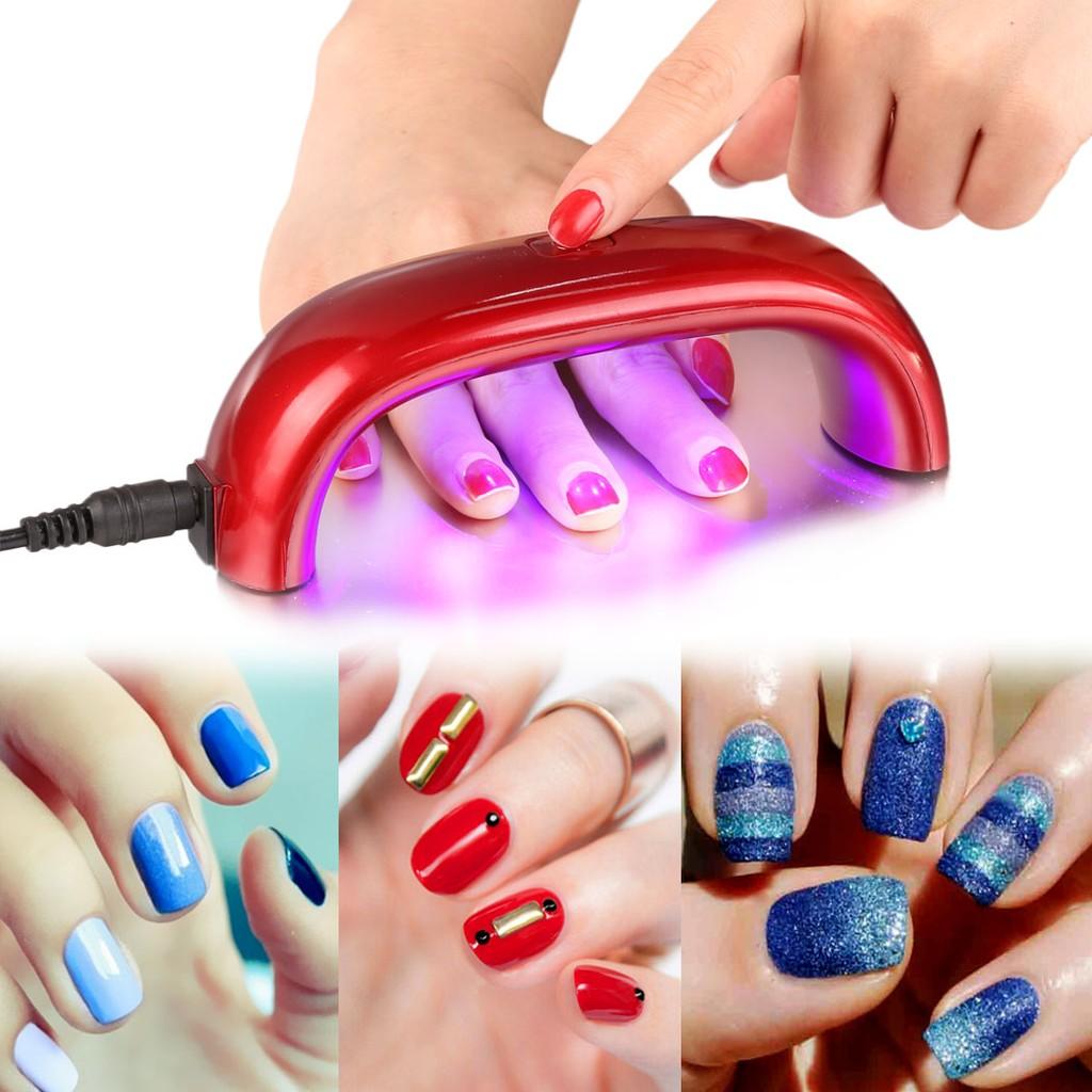 LED 110V 迷你 燈管美甲紫外燈光療燈凝膠美甲燈乾燥固化機凝膠器 美甲9 W 指甲彩
