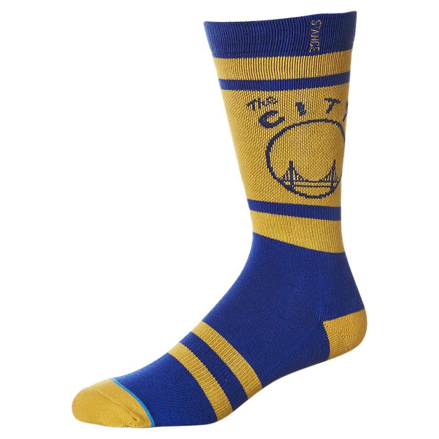 ~Stance ~NBA 球隊版中筒襪 ,金州勇士隊Curry 客場球衣配色,不輸NIKE