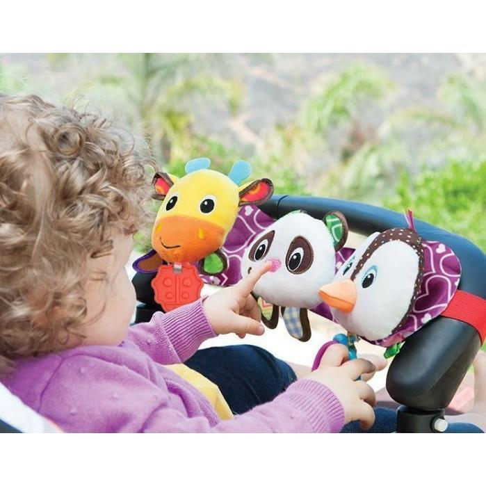 SOZZY 聲光兒童車掛床掛音樂燈光牙膠拉環彌月禮生日禮音樂臉發光帶音效