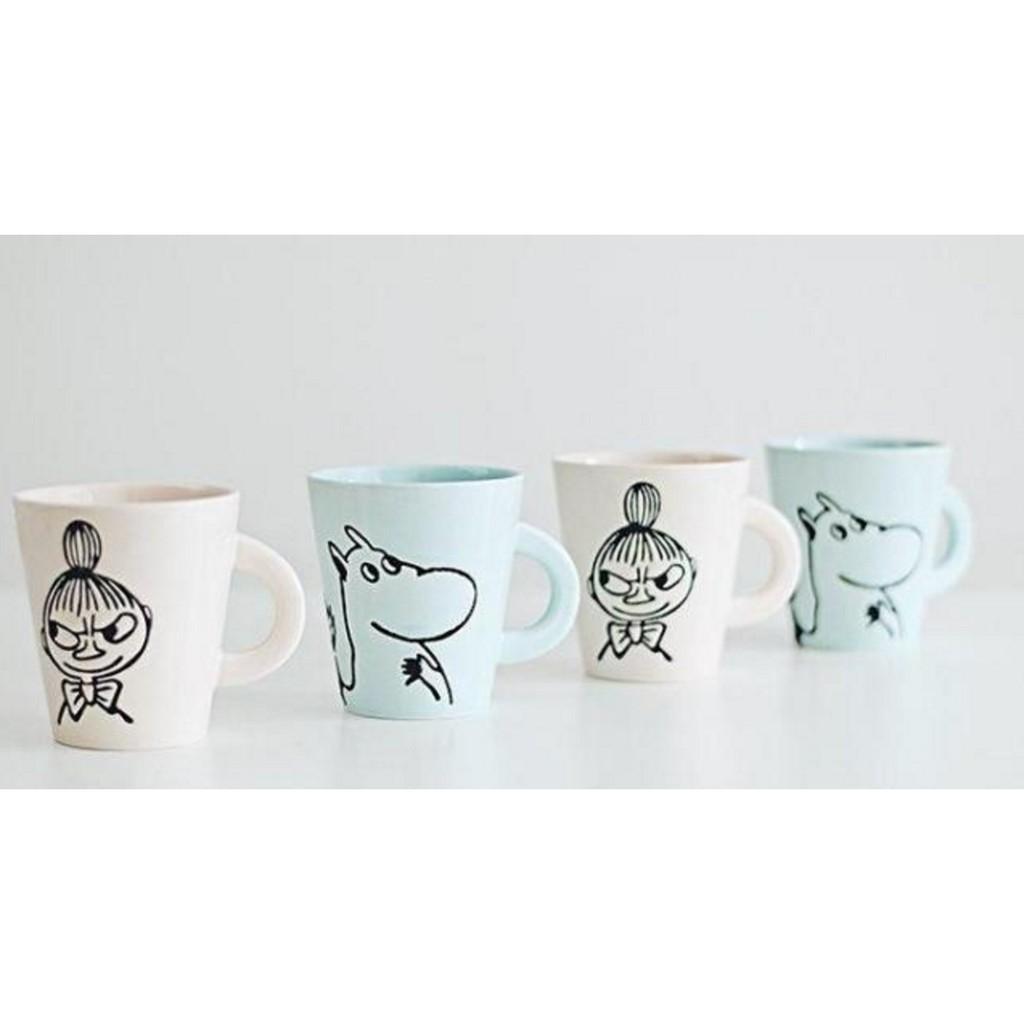 MOOMIN 嚕嚕咪小不點 咖啡杯子雕刻陶瓷杯子水杯牛奶馬克杯