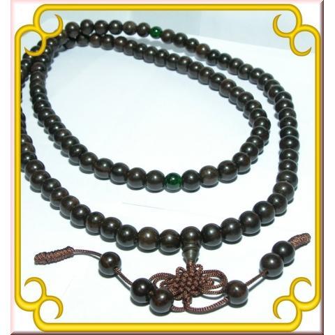 108 顆黑檀佛珠念珠唸珠佛教用品飾品手珠越南 超 6mm 8mm 12MM 14MM