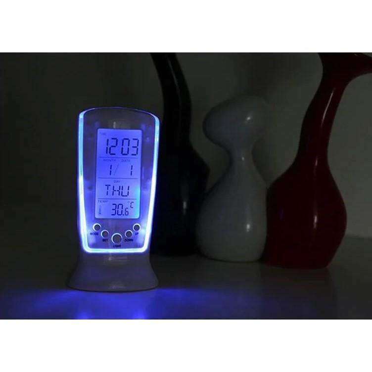 LED鬧鐘長形計時鬧鐘 日期溫度星期電子鬧鐘 創意靜音背光鬧鐘