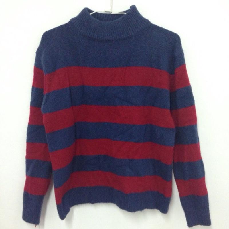 降價!小立領保暖條紋針織毛衣♡私物