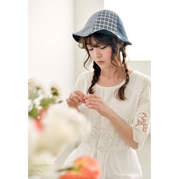 ~B S SHOP ~~DD0127 ~韓系最愛森林系小清新漁夫帽帽子遮陽帽牛仔帽草帽可搭