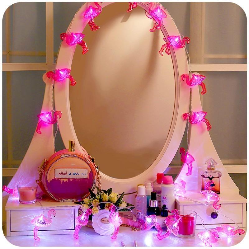 J adore Jewelry 韓國 單品家飾壁掛燈紅鶴火鶴燈串夜燈派對燈霓虹佈置裝飾