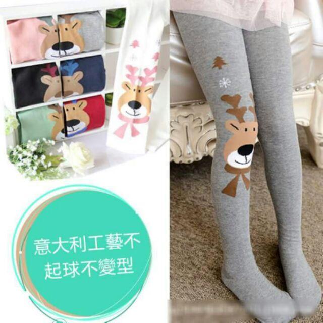 兒童全棉褲襪寶寶絲襪打底褲女麋鹿卡通外貿加厚襪子