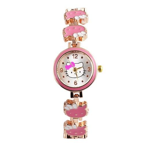 Hello Kitty 的手鐲表,女孩 凱蒂貓石英手錶卡哇伊