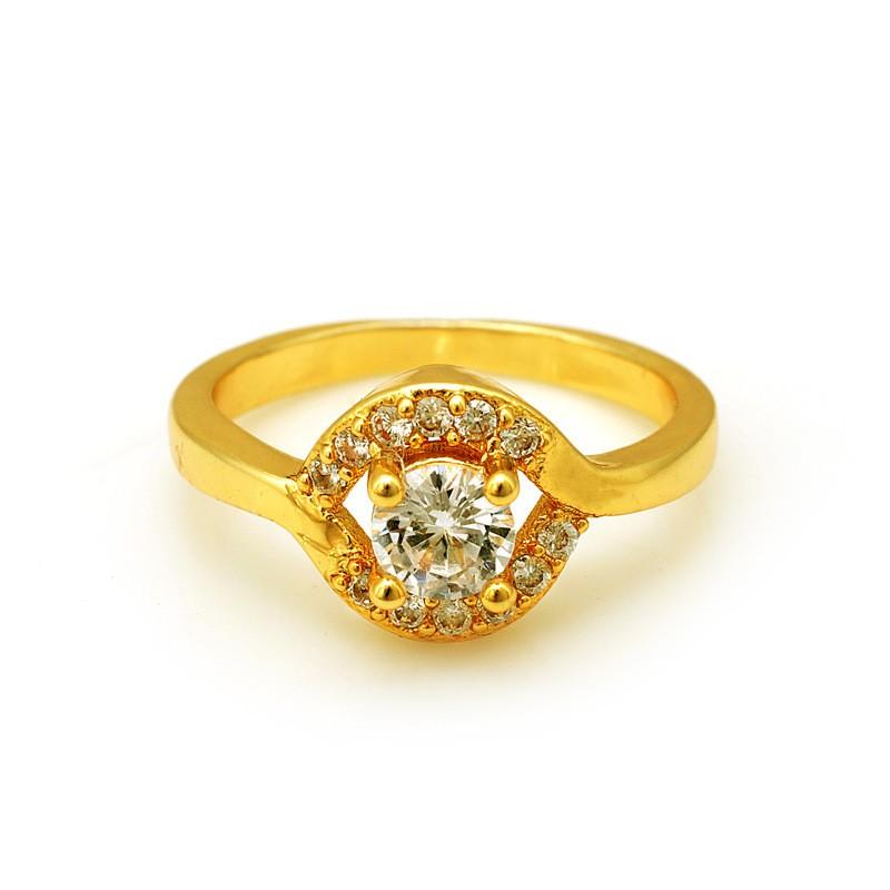 波麗唯美鍍18K 沙金防過敏 開扣花朵戒指可調節大小結婚訂婚情人節母親節父親節生日送禮