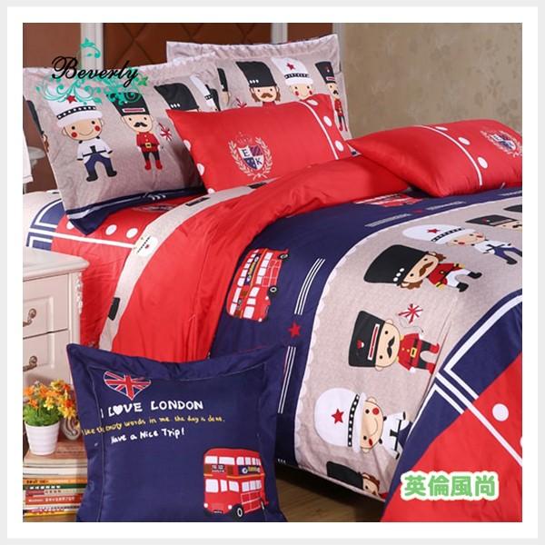 ~英倫風尚~柔絲絨 製~單人雙人加大床包、涼被薄被兩用被套~