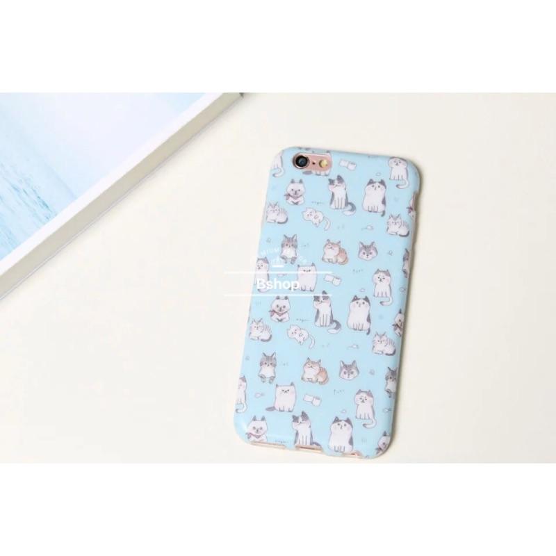 可愛小貓咪波斯貓小花貓軟殼全包iphone 6s plus i6