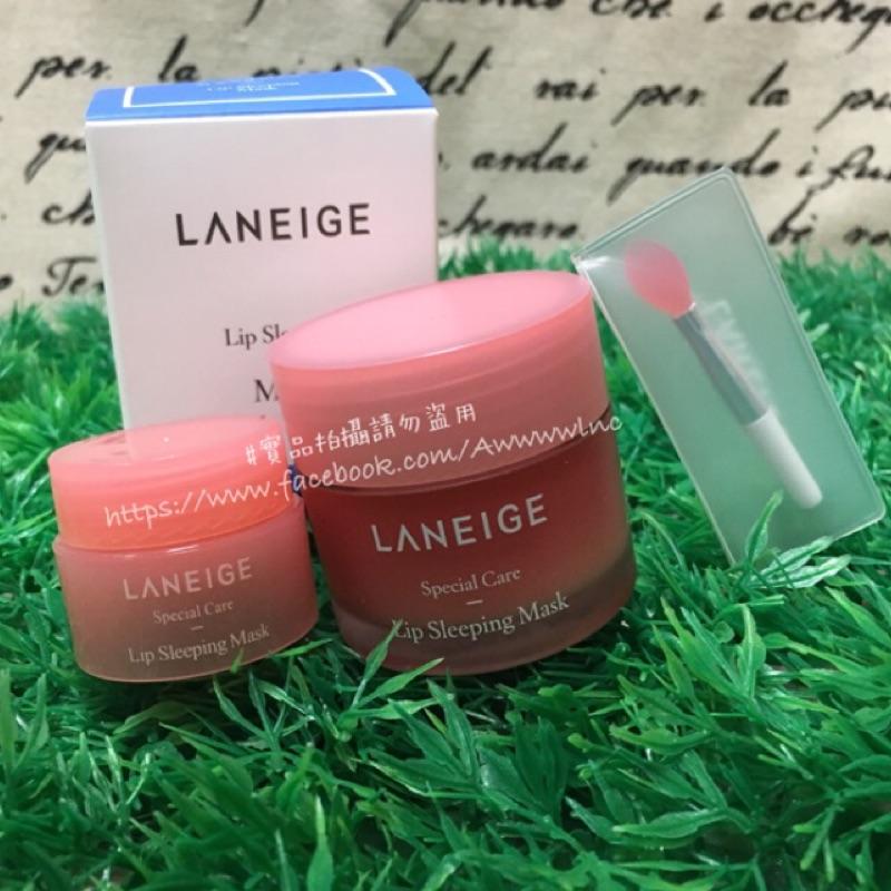 韓國LANEIGE 睡美人夜間晚安草莓香唇膜Lip Sleeping Mask 3g 20