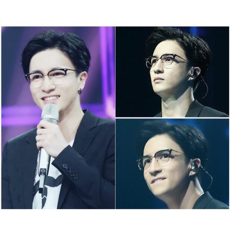 薛之謙同款眼鏡框復古半框防輻射金屬眼鏡架配近視眼鏡成品男女款
