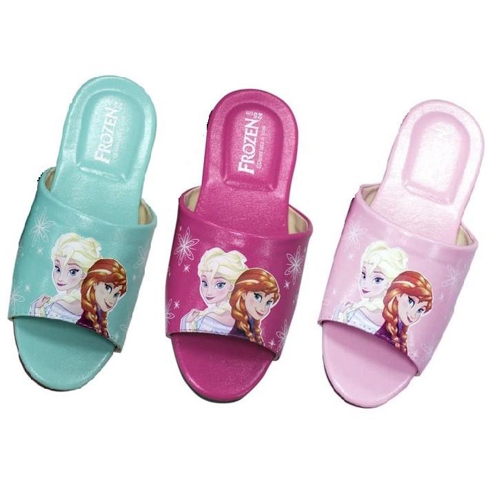 ~零碼22cm ~冰雪奇緣兒童室內拖鞋小孩室內皮拖鞋~ 迪士尼Disney 室內拖鞋客廳拖