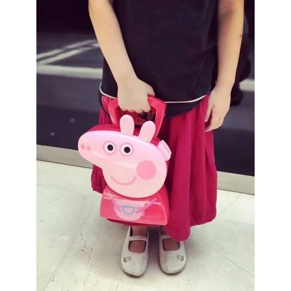 粉色粉紅豬小妹粉紅小豬佩佩豬醫具 收納盒套裝過家家套裝小孩玩具