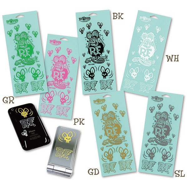 RAT FINK 六種顏色老鼠烤漆貼紙Skull Fly Decal 貼於手機汽車機車單車