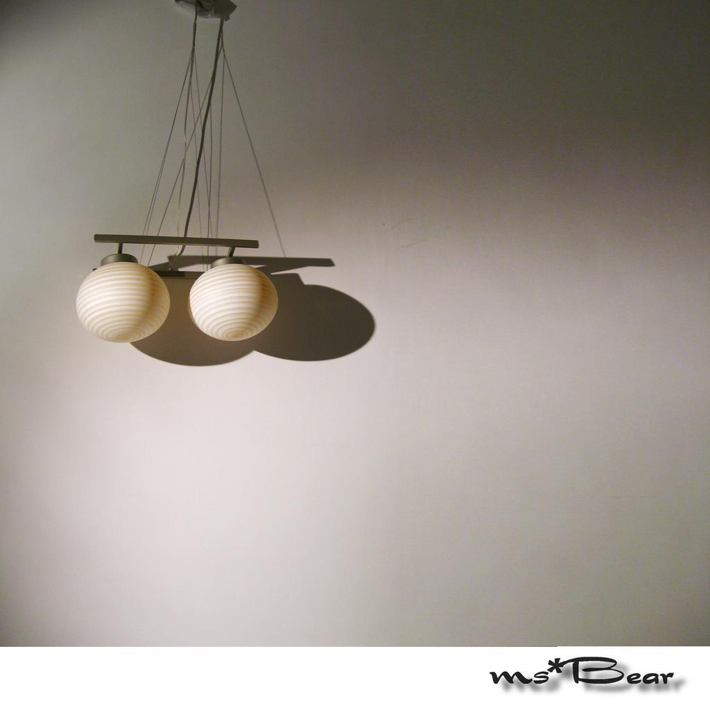 Ms Bear 高雅燈飾精緻雙燈圓球吊燈雙吊燈2 燈e27 大理石紋雪融紋圓吊燈黃色橘色白