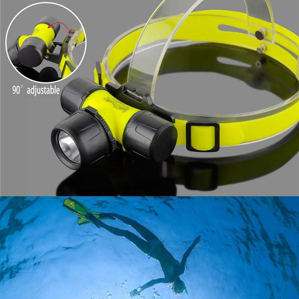 30 米ABS 1200 流明CREE Q5 LED 防水潛水頭燈