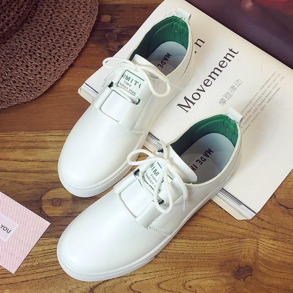 JDJ005 平底休閒小白鞋