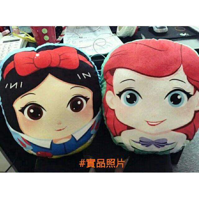 迪士尼超美Q 版公主系列抱枕•白雪公主小美人魚冰雪奇緣ELSA 灰姑娘